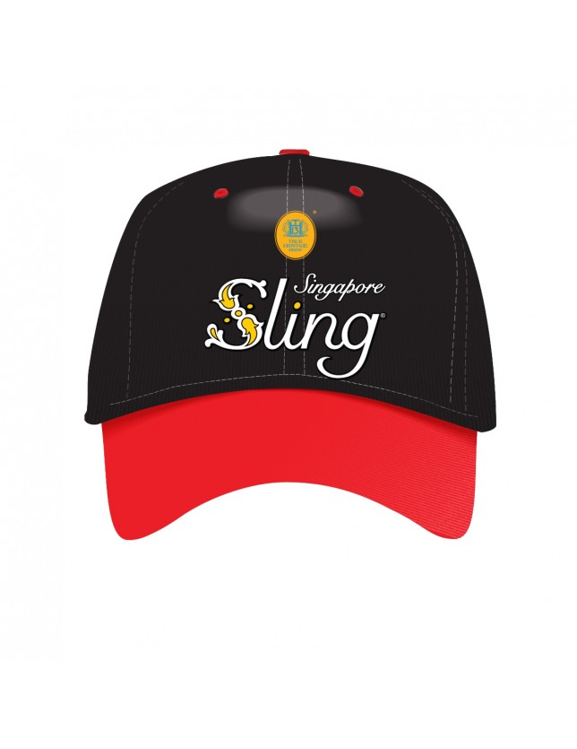 Black and Red Cap Sling Logo