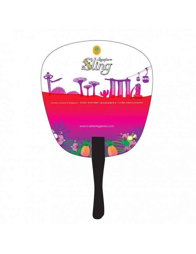 Colourful Singapore Sling Fan