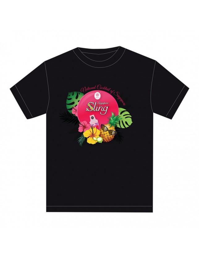 Sling National Cocktail of Singapore tshirts_black