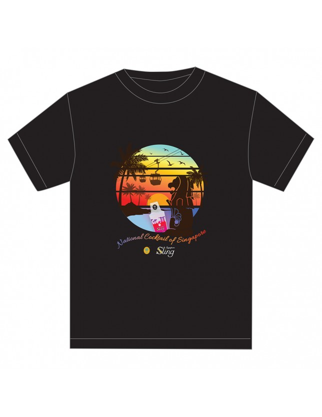 Merlion and SunsetTshirt_black